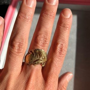 47 off Anthropologie Jewelry Alex Monroe 22k Feather Ring 65 Poshmark